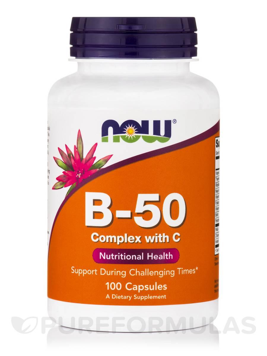 B-50 Complex with Vitamin C - 100 Capsules