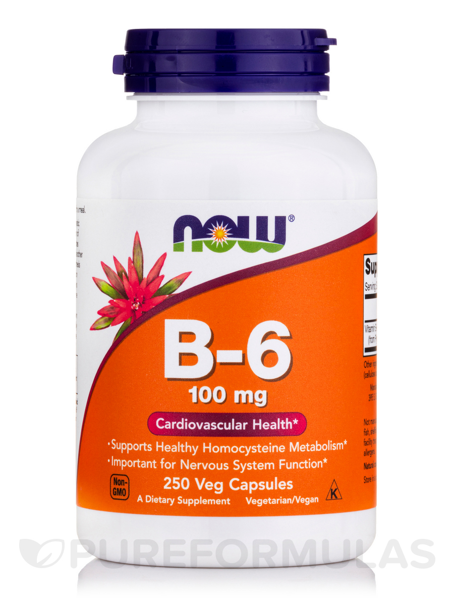 B-6 100 mg - 250 Capsules