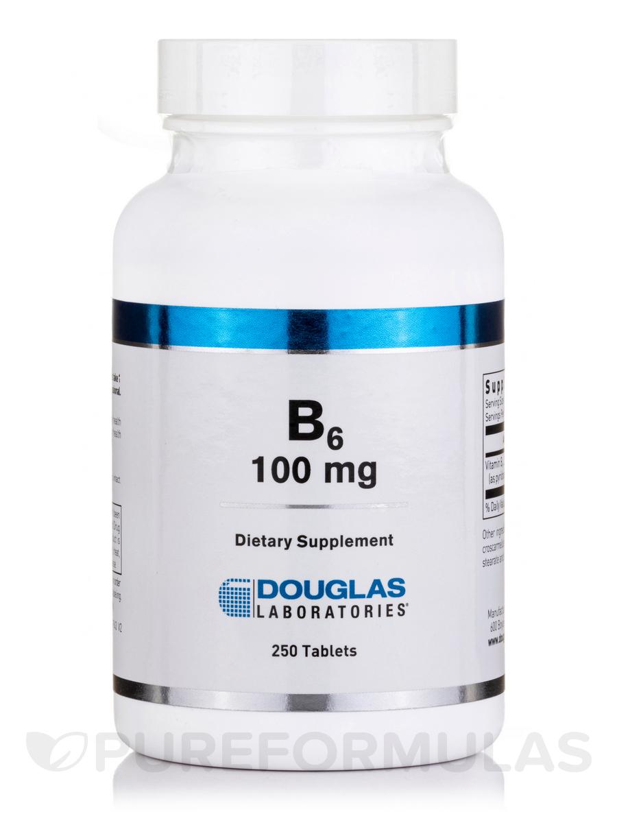 B-6 100 mg - 250 Tablets
