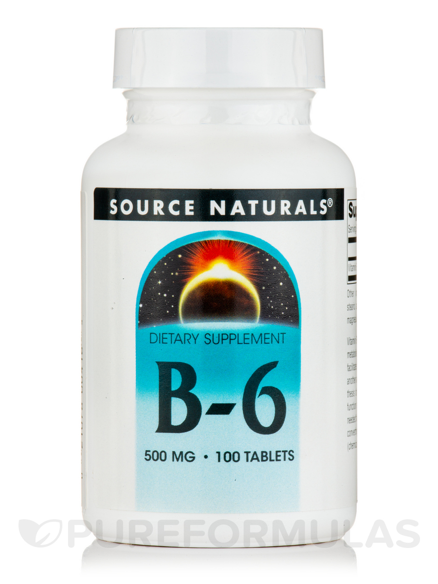 B-6 500 mg (Time Release) - 100 tablets