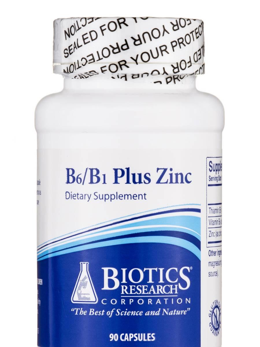 B6/B1 Plus Zinc - 90 Capsules