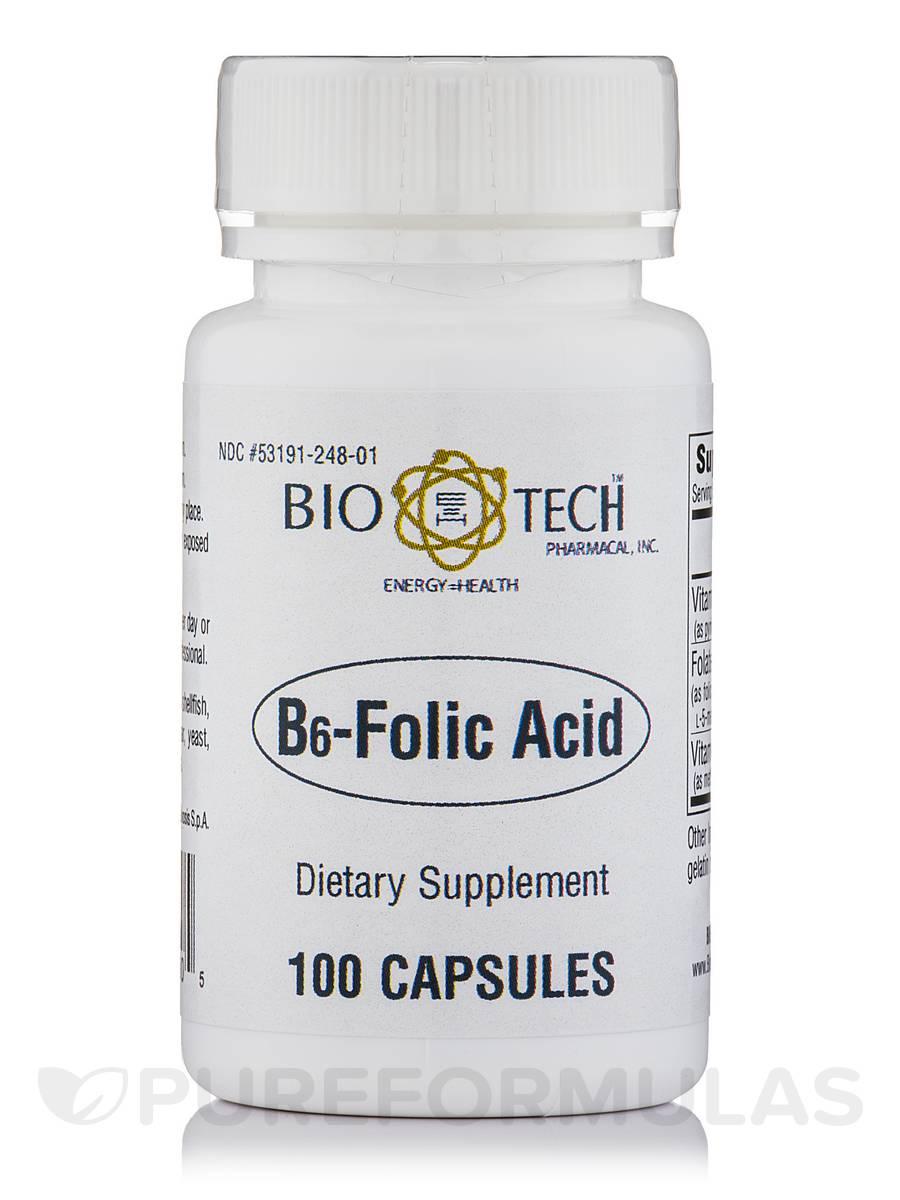 B6-Folic Acid - 100 Capsules