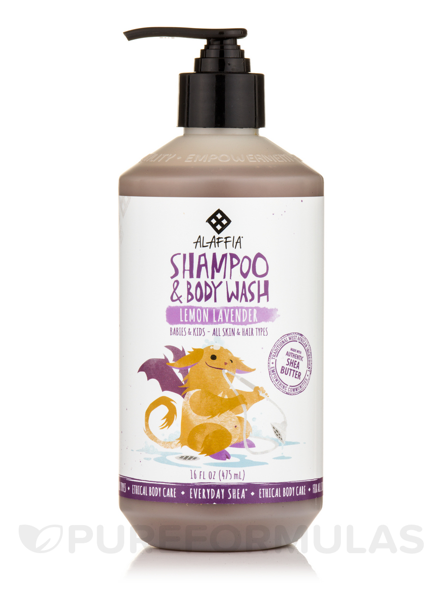 Babies & Kids Shea Shampoo & Body Wash, Lemon Lavender - 16 fl. oz (475 ml)
