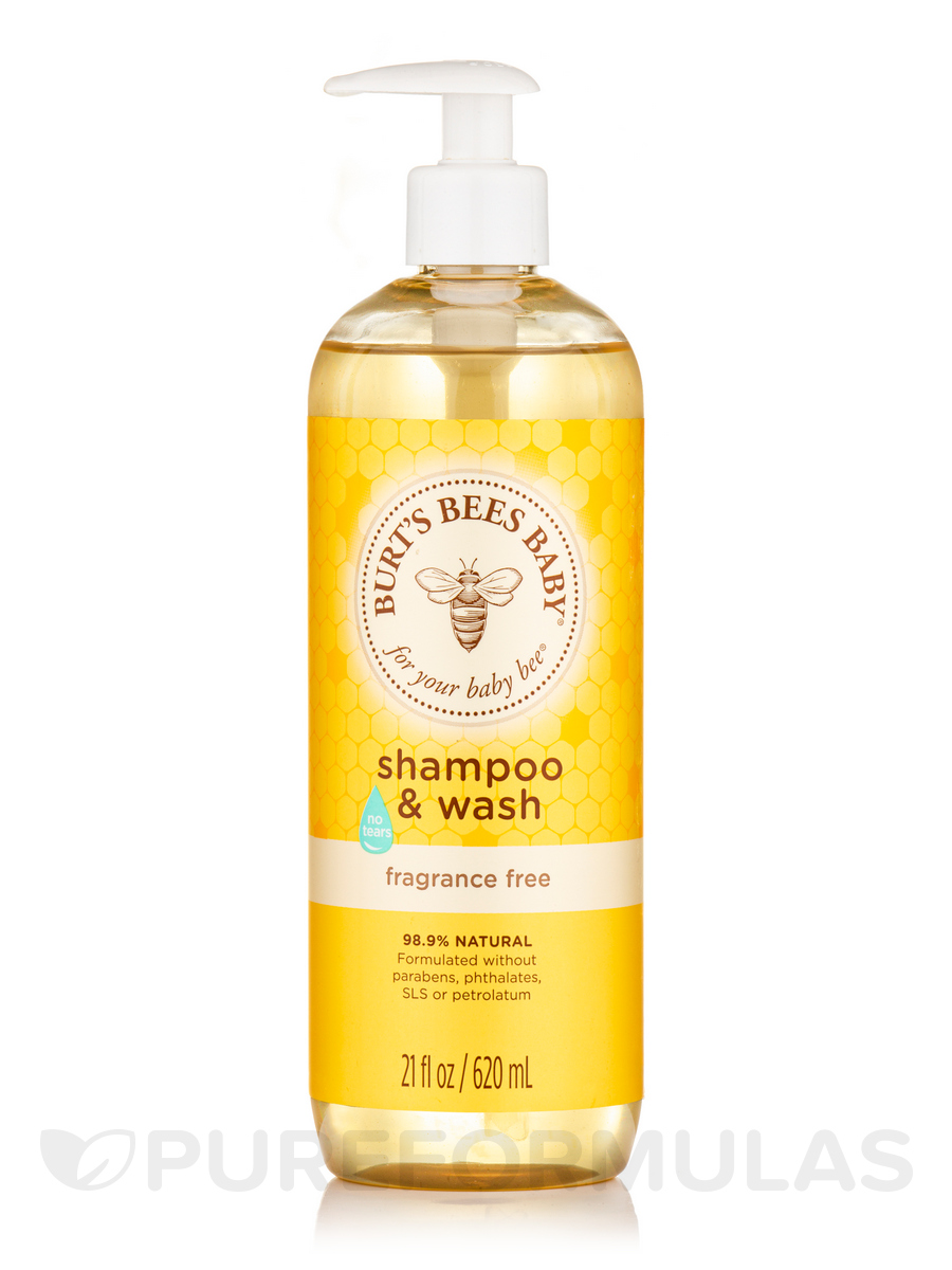 Baby Bee® Shampoo & Wash, Fragrance-Free (Tear-Free) - 21 fl. oz (620 ml)