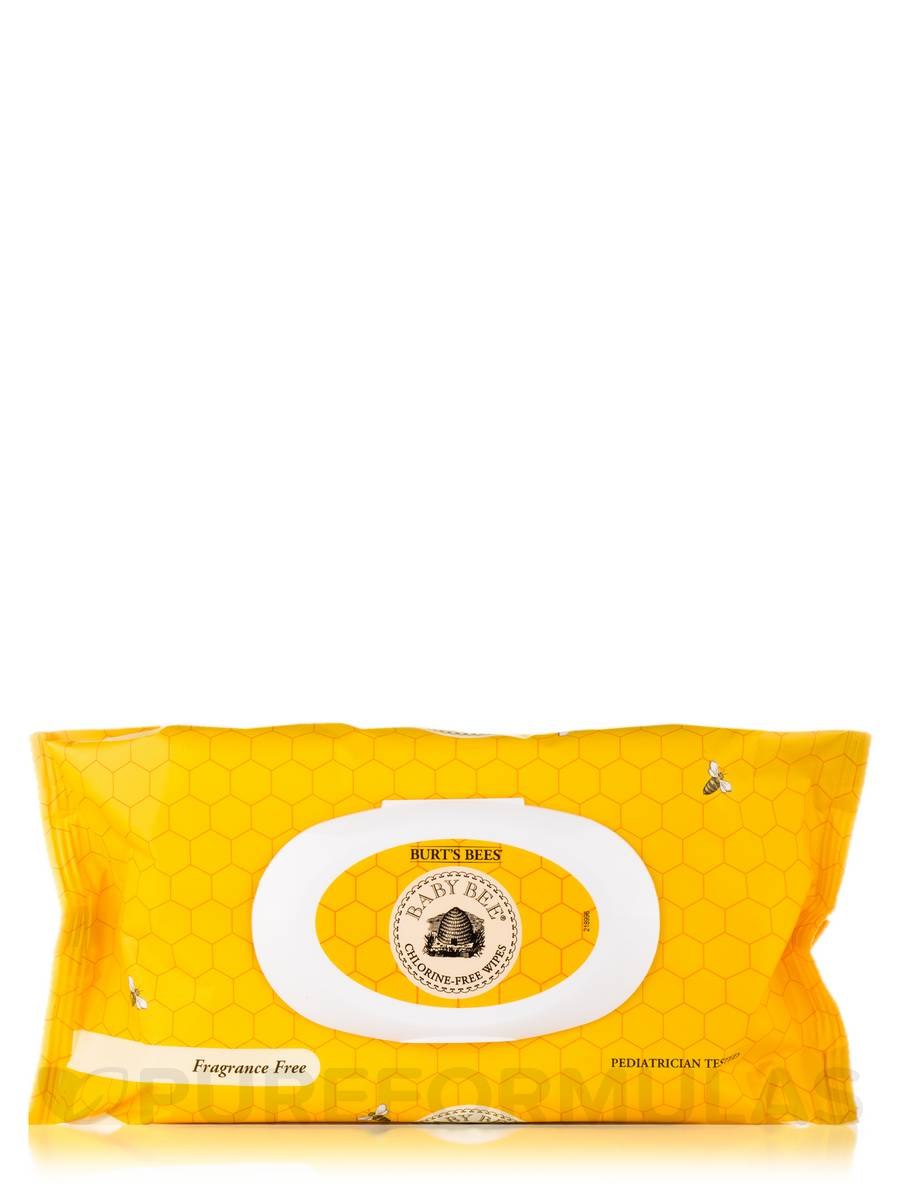 Baby Bee® Wipes with Aloe & Vitamin E, Fragrance-Free (Chlorine-Free) - 72 Count (7.9 in x 6.3 in / 200 mm x 160 mm)