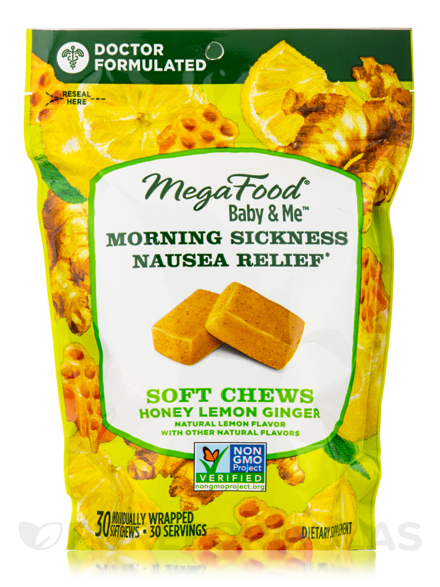 Baby & Me™ Morning Sickness Nausea Relief Soft Chews, Honey Lemon Ginger - 30 Soft Chews