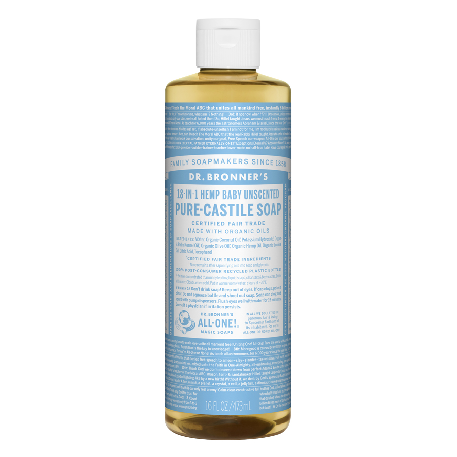 Unscented Baby-Mild Pure Castile Liquid Soap - 16 fl. oz (473 ml)