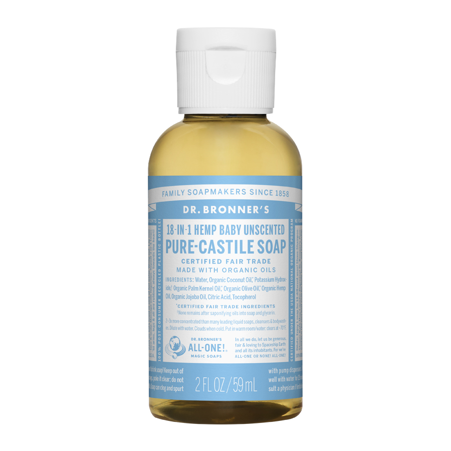 Unscented Baby-Mild Pure Castile Liquid Soap - 2 fl. oz (59 ml)