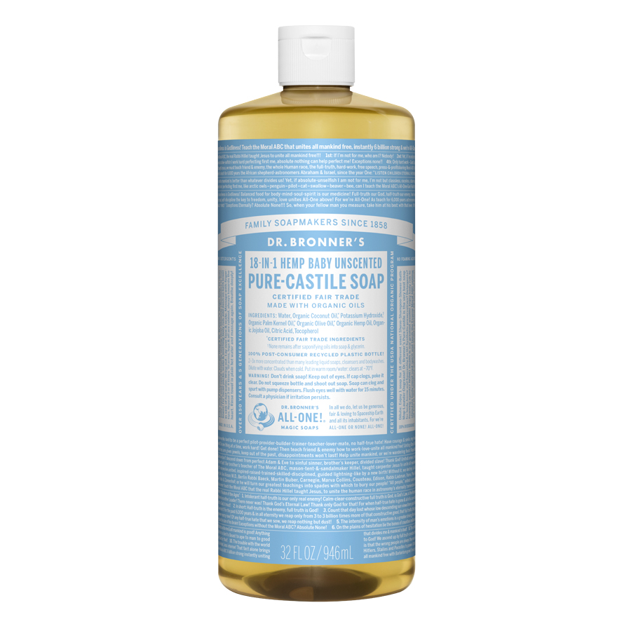 Unscented Baby-Mild Pure Castile Liquid Soap - 32 fl. oz (946 ml)