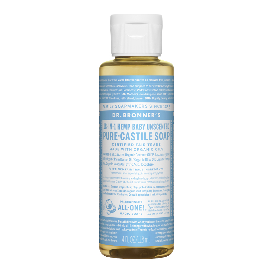 Unscented Baby-Mild Pure Castile Liquid Soap - 4 fl. oz (118 ml)