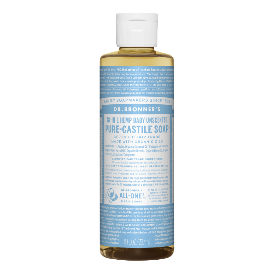 Unscented Baby-Mild Pure Castile Liquid Soap - 8 fl. oz (237 ml)