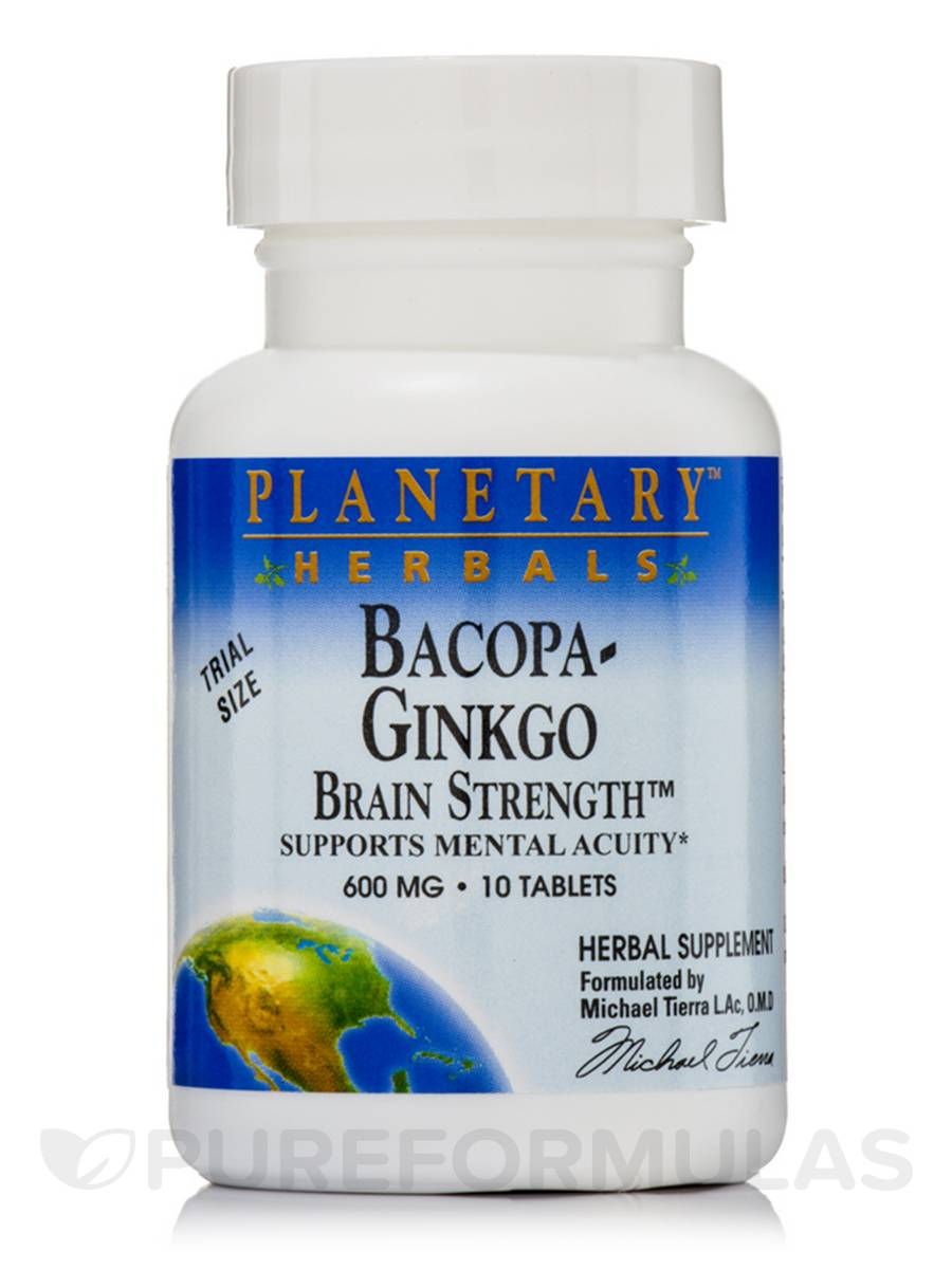 Bacopa-Ginkgo Brain Strength 600 mg - 10 Tablets