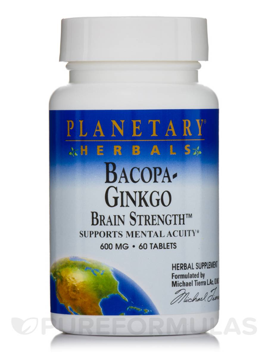Bacopa-Ginkgo Brain Strength 600 mg - 60 Tablets
