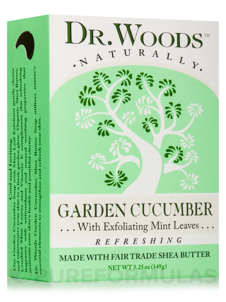 Bar Soap - Garden Cucumber with Exfoliating Mint Leaves - 5.25 oz (149 Grams)