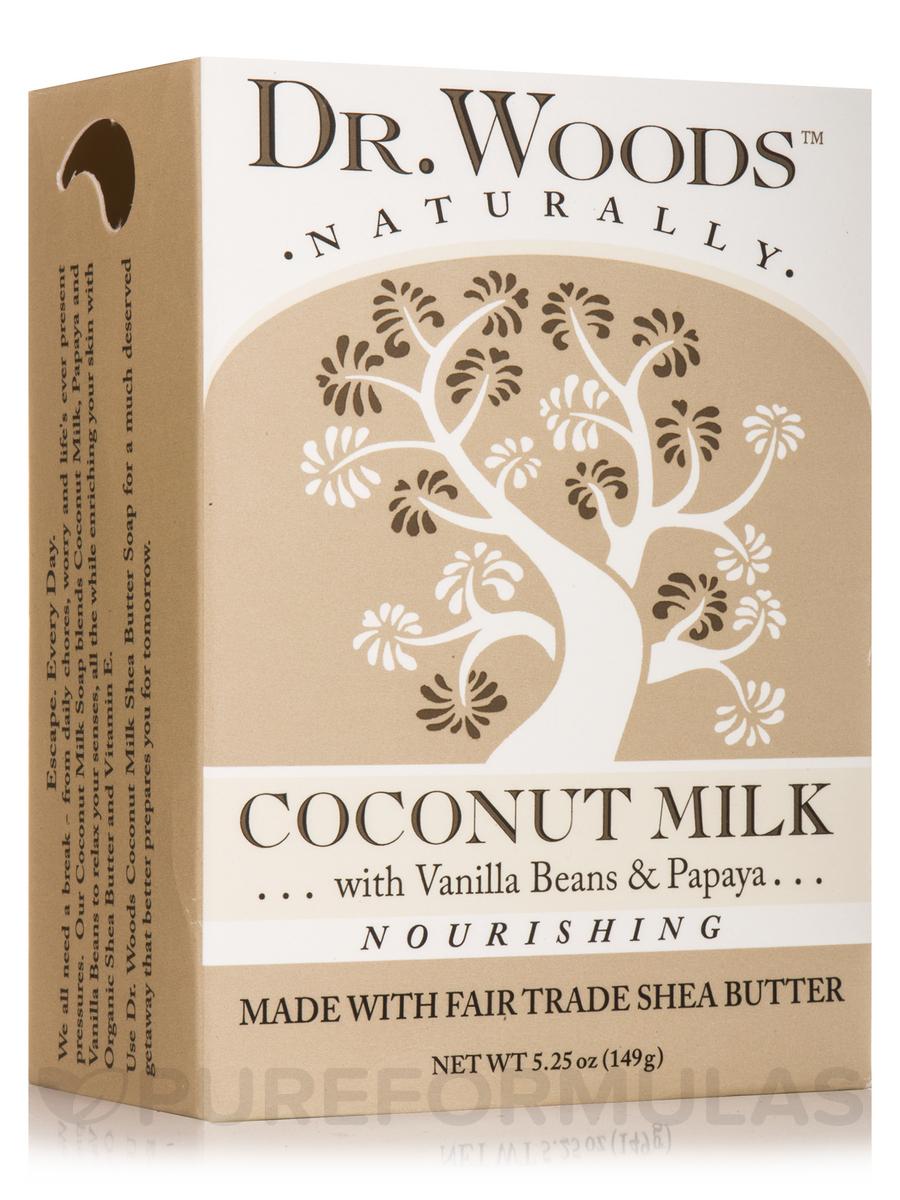 Bar Soap - Nourishing Coconut Milk with Vanilla Beans & Papaya - 5.25 oz (149 Grams)