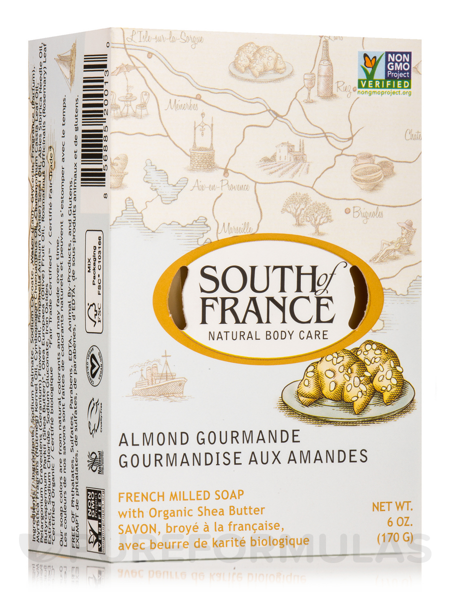 Bar Soap Oval Almond Gourmande - 6 oz (170 Grams)