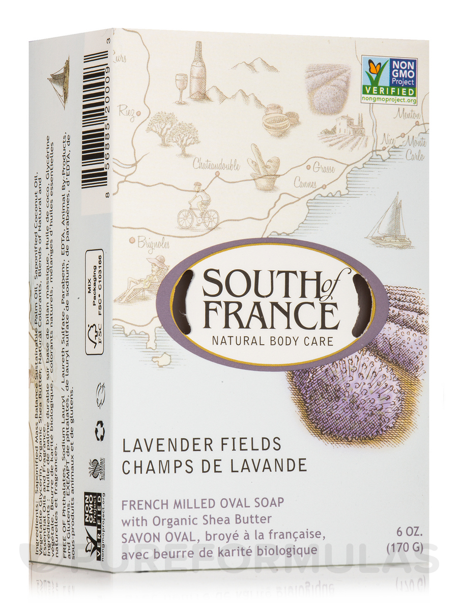 Bar Soap Oval Lavender Fields - 6 oz (170 Grams)