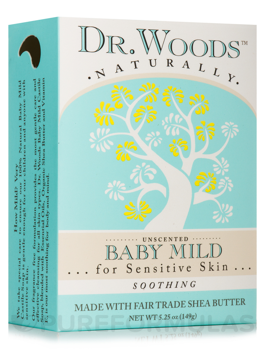 Bar Soap - Unscented Baby Mild - 5 oz (149 Grams)