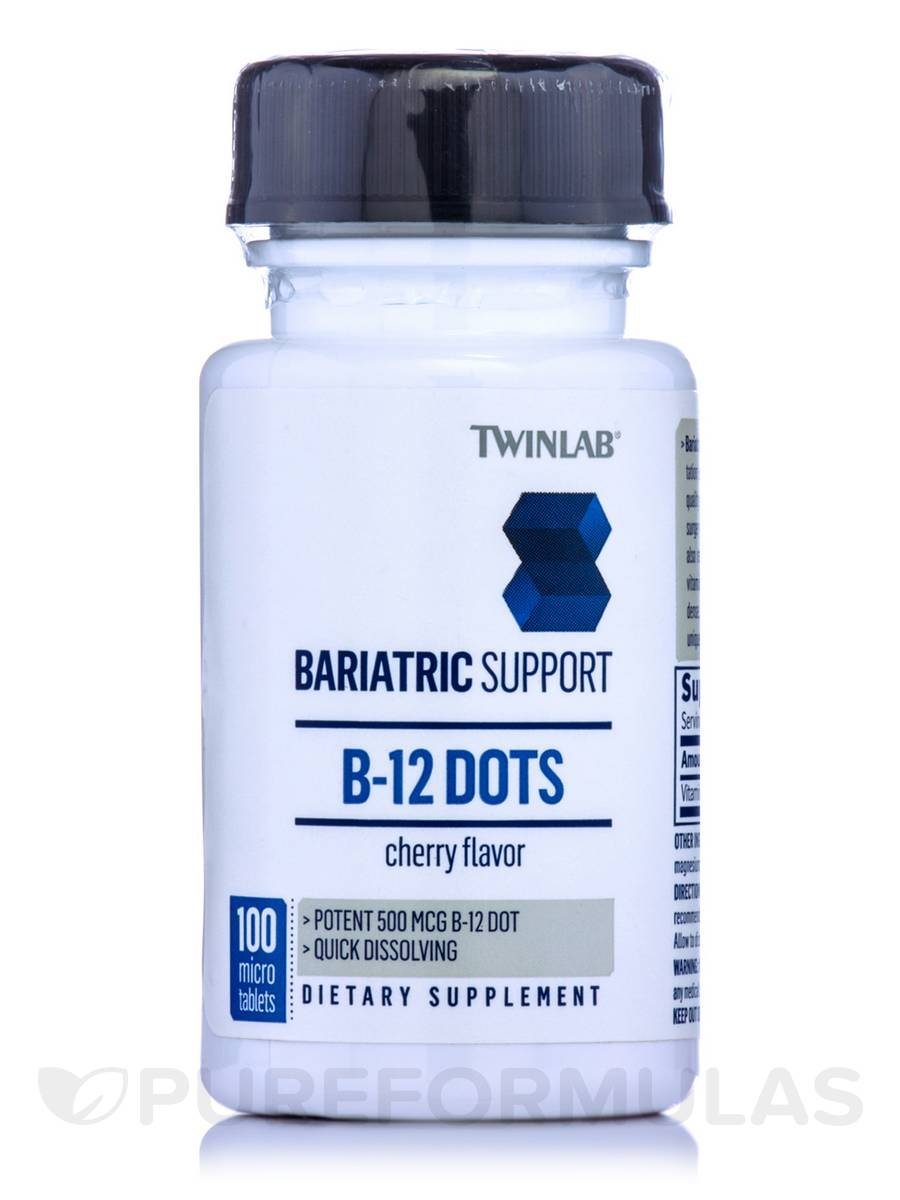 Bariatric Support B-12 Dots - Cherry Flavor - 100 Micro Tablets