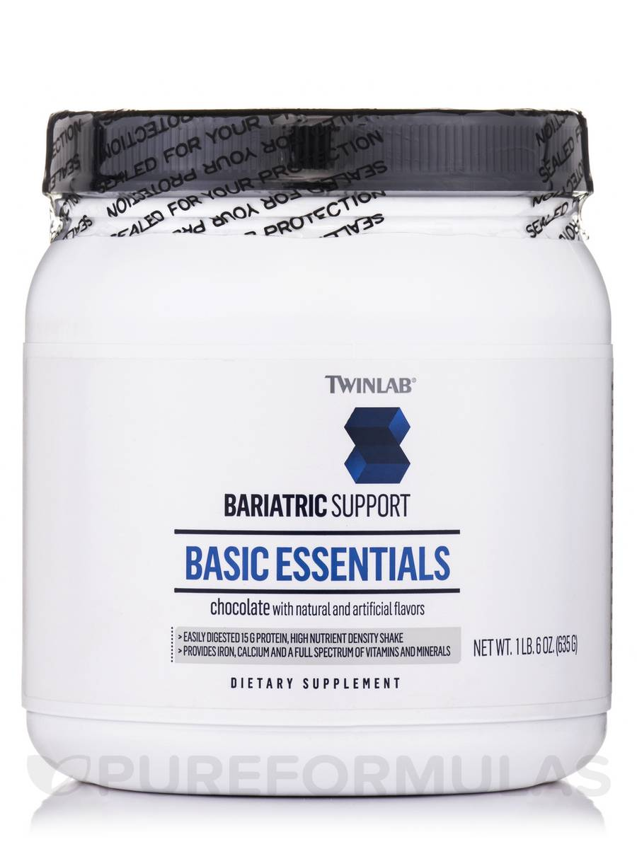 Bariatric Support Basic Essentials - Chocolate with Natural and Artificial Flavors - 1 lb 6 oz (635 Grams)