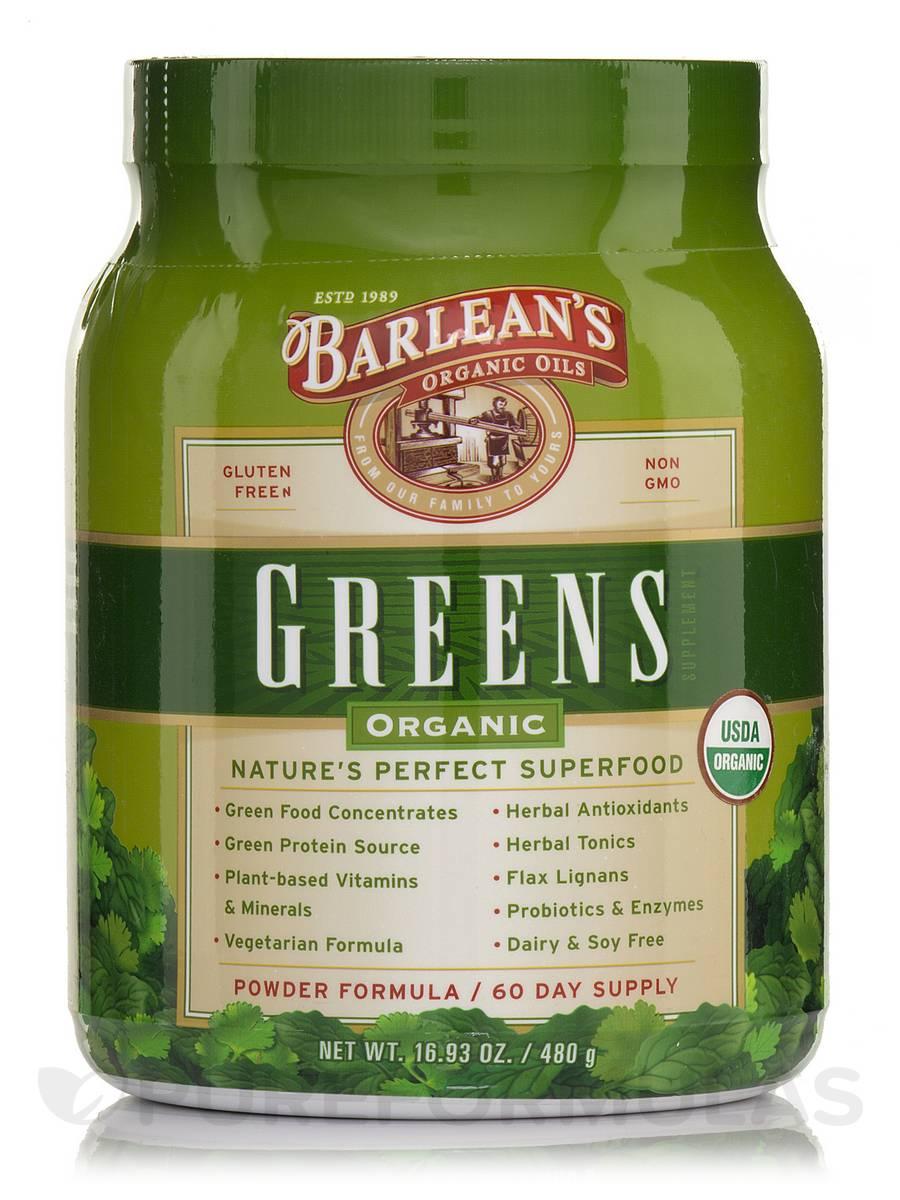 Organic Greens - 16.93 oz (480 Grams)