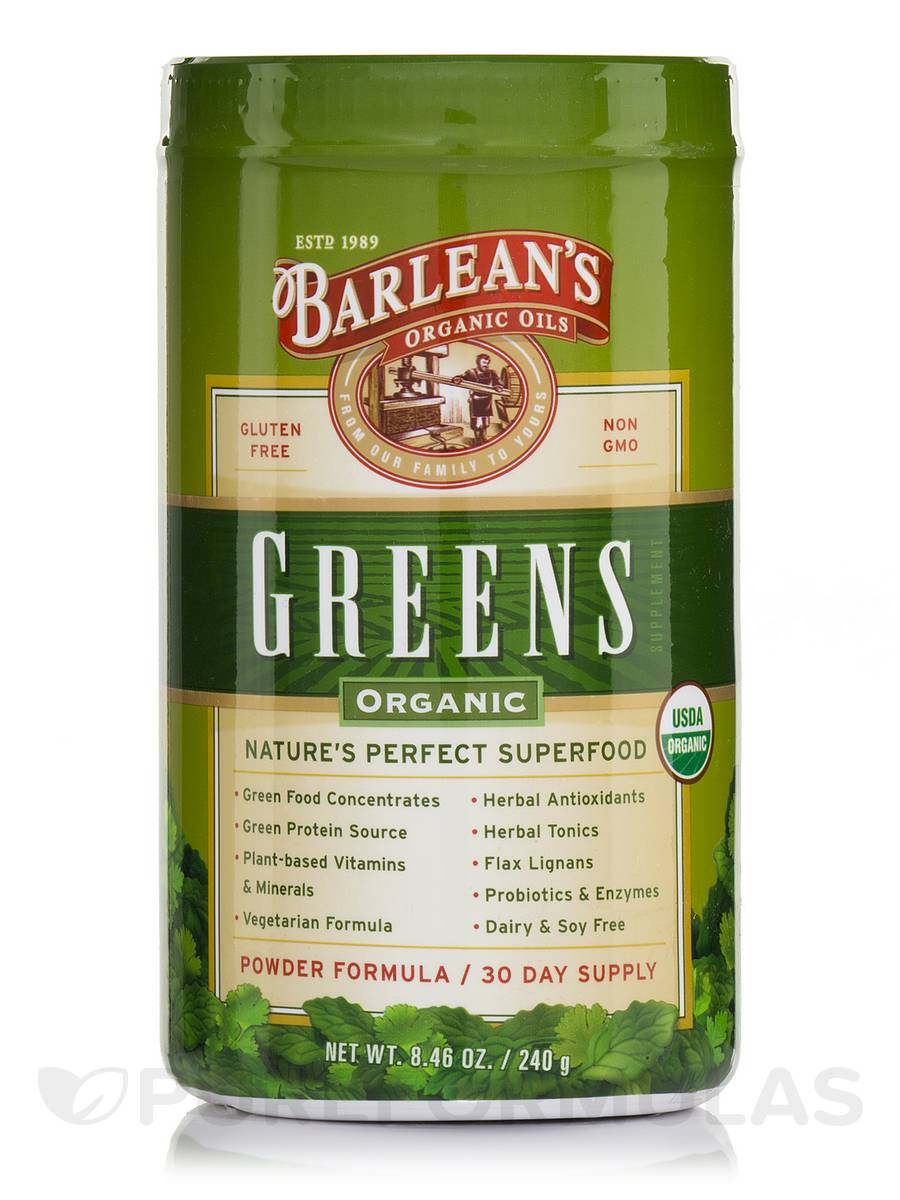 Organic Greens - 8.46 oz (240 Grams)