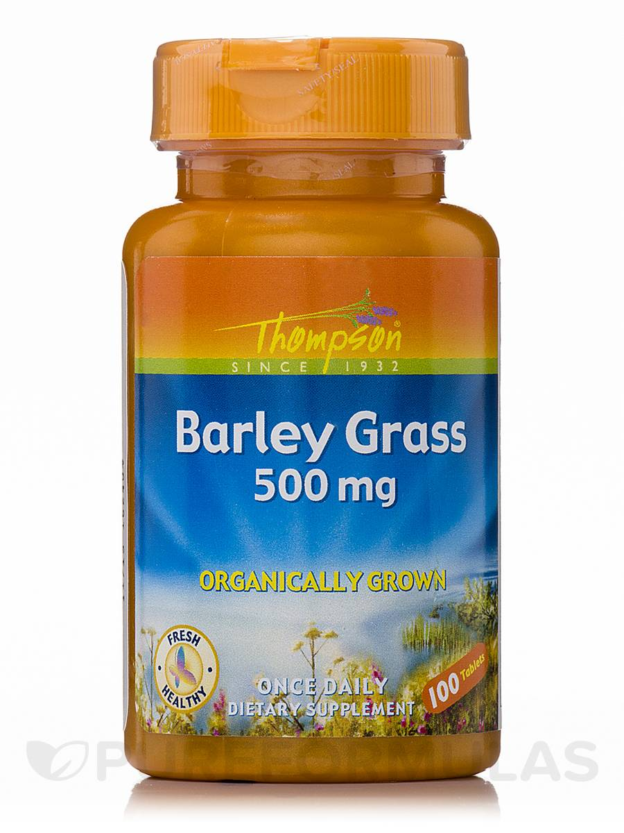Barley Grass 500 mg (Organically Grown) - 100 Tablets