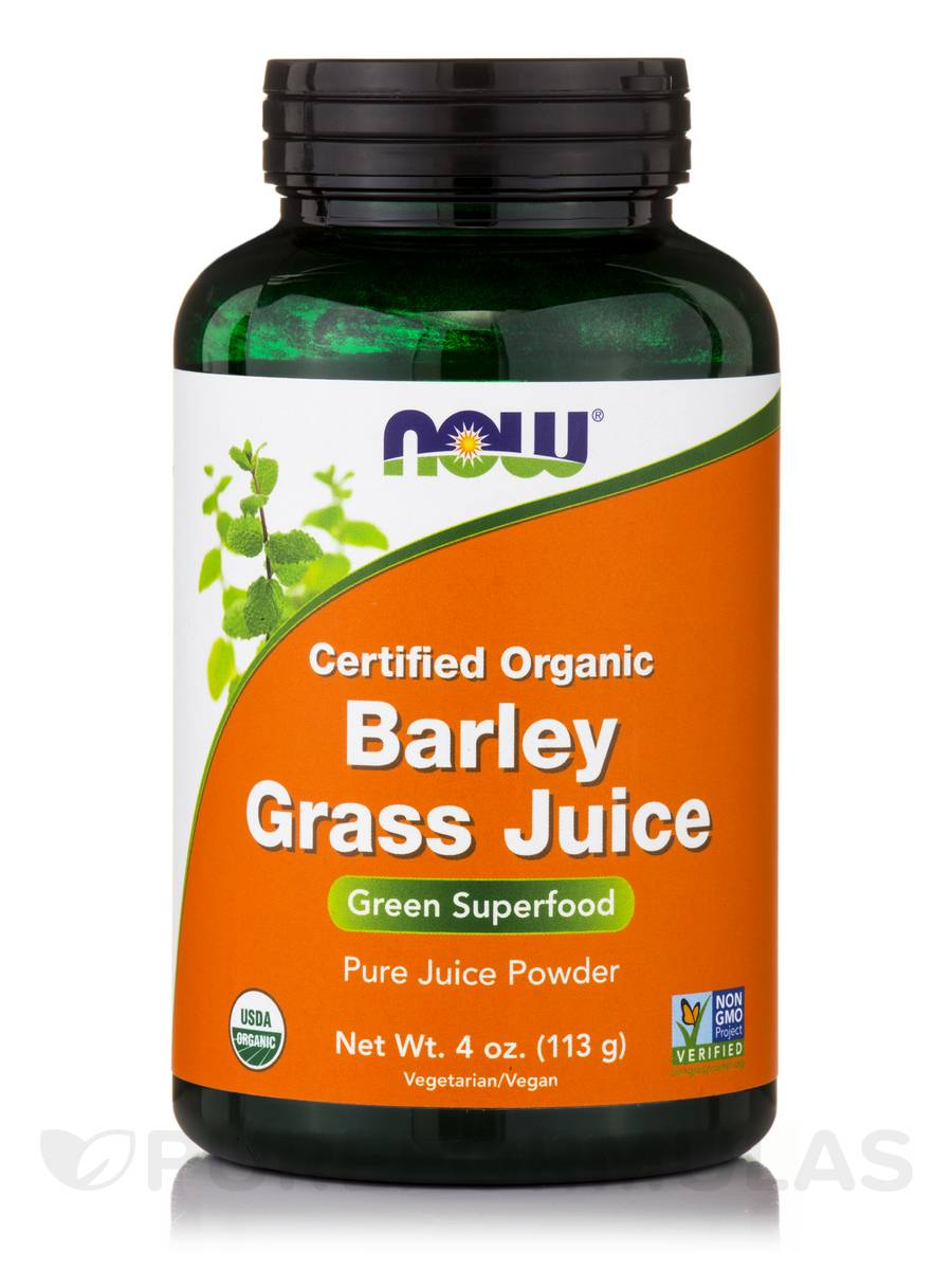 Barley Grass Juice (Certified Organic Powder) - 4 oz (113 Grams)