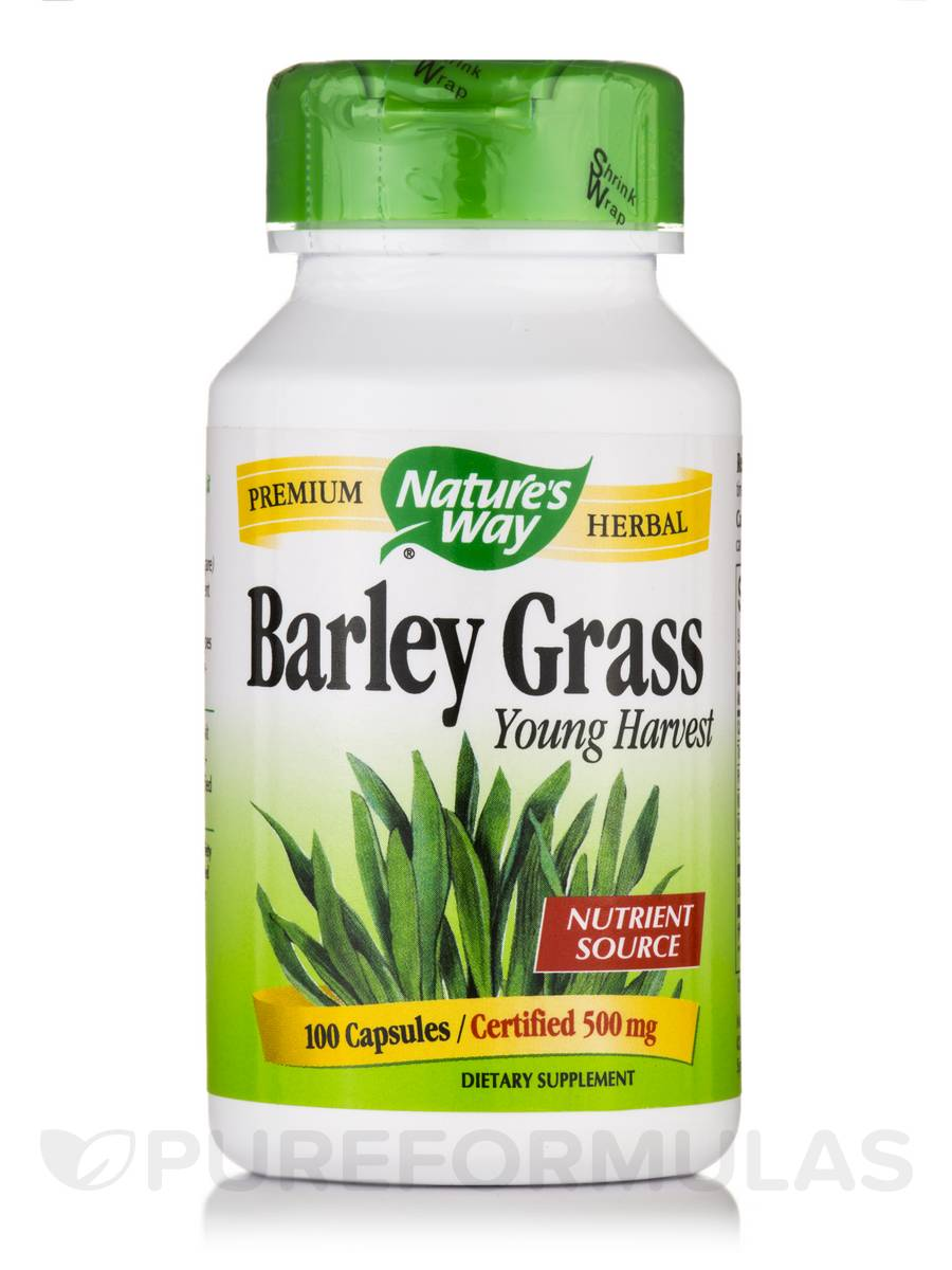 Barley Grass Young Harvest 500 mg - 100 Capsules