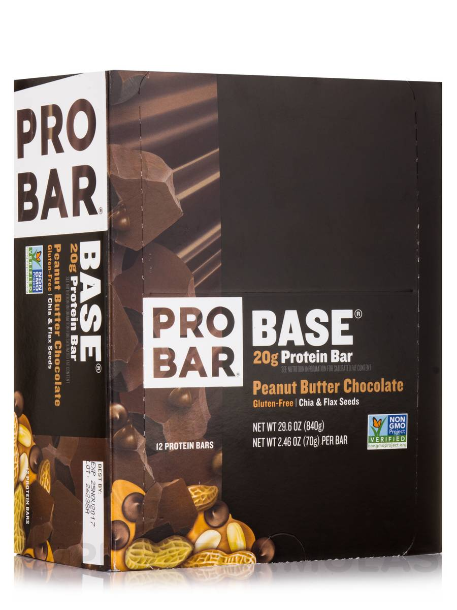 BASE® Protein Bar, Peanut Butter Chocolate - Box of 12 Bars
