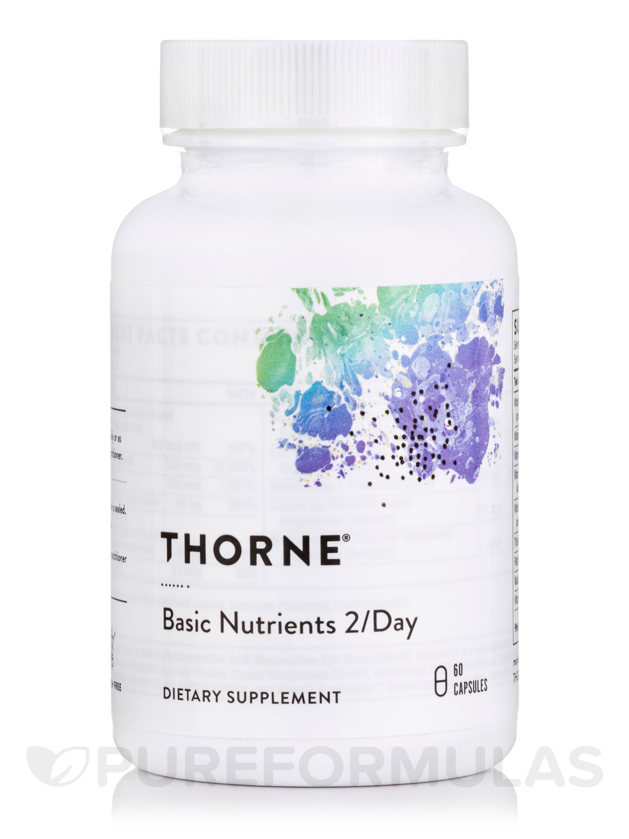 Basic Nutrients 2/Day - NSF Certified for Sport - 60 Capsules