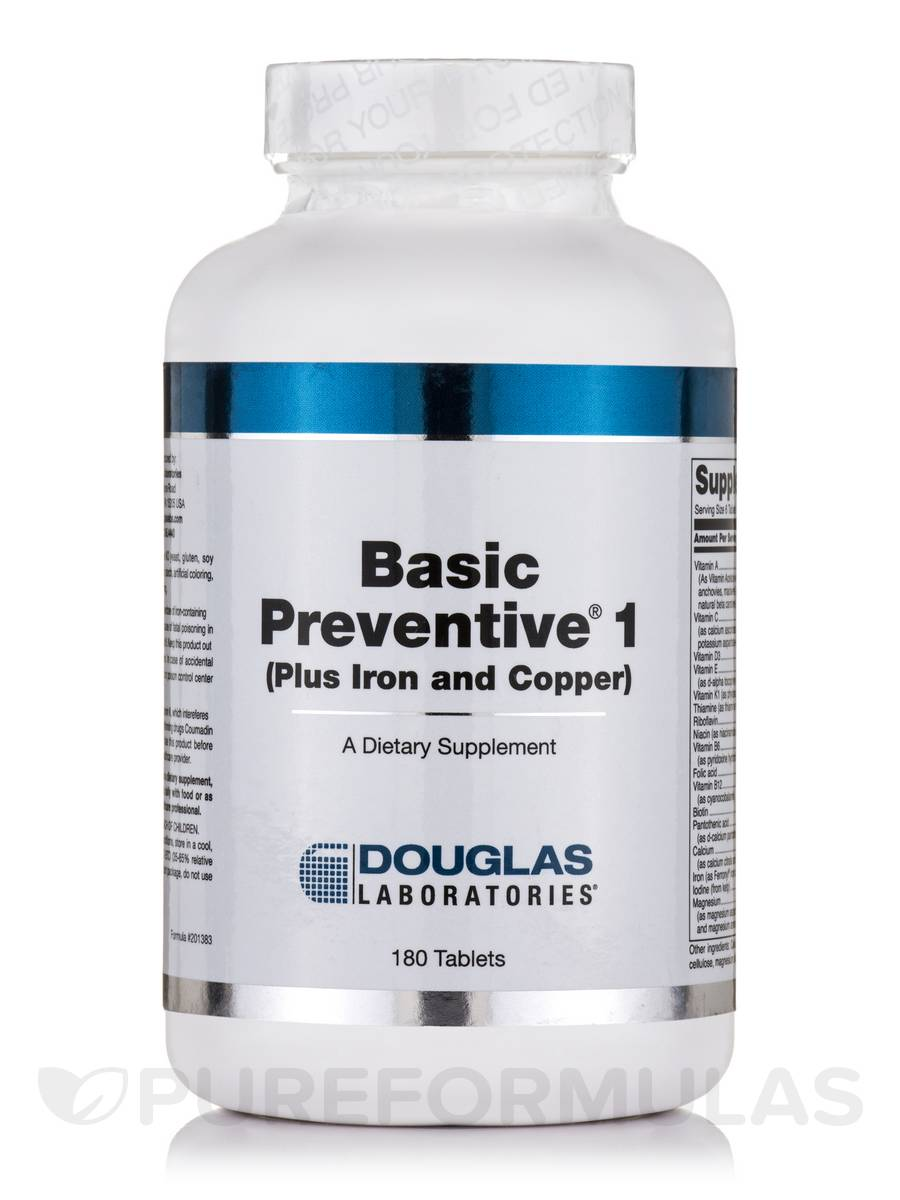 Basic Preventive 1 (Plus Iron and Copper) - 180 Tablets