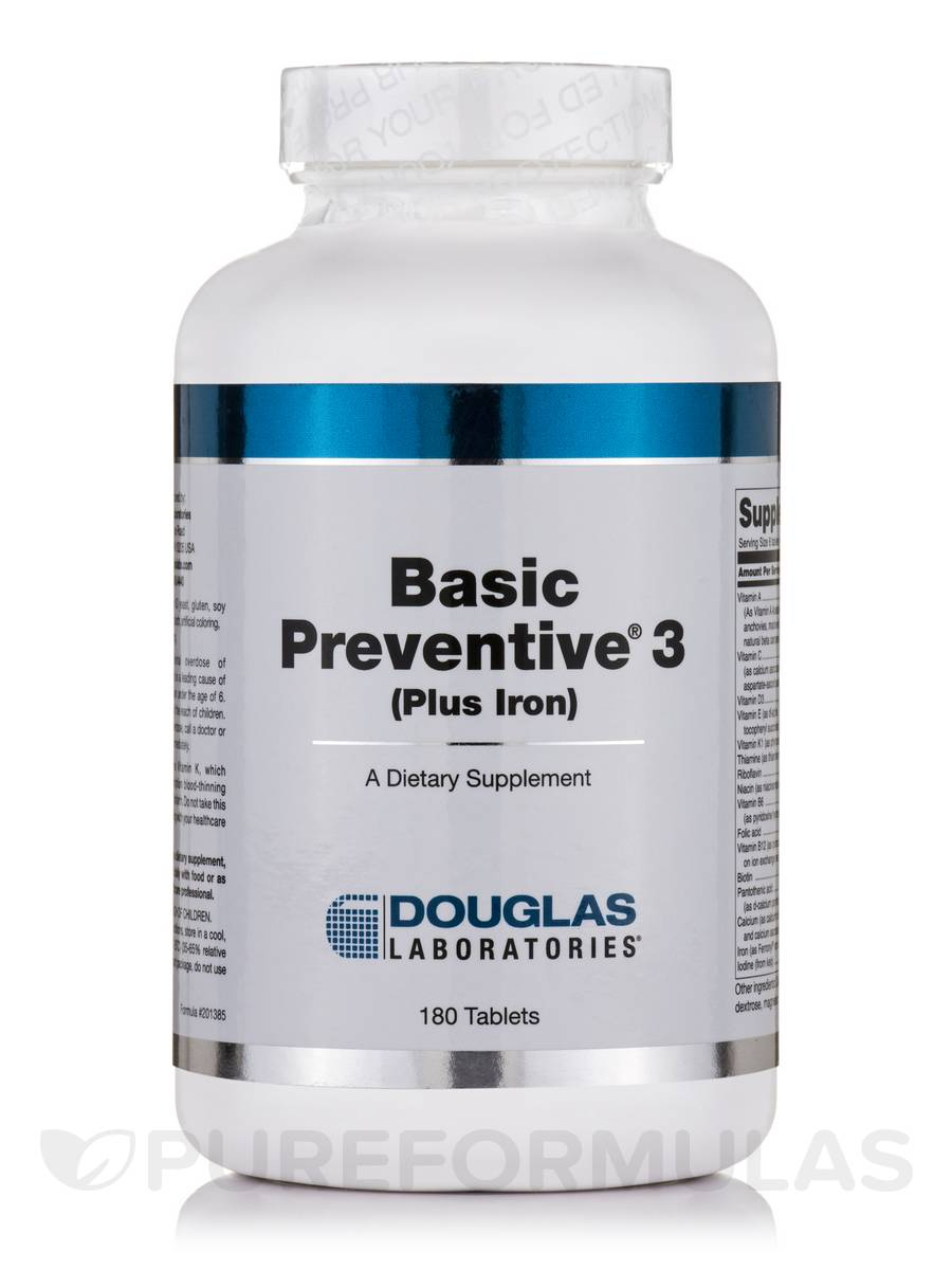 Basic Preventive 3 (Plus Iron) - 180 Tablets