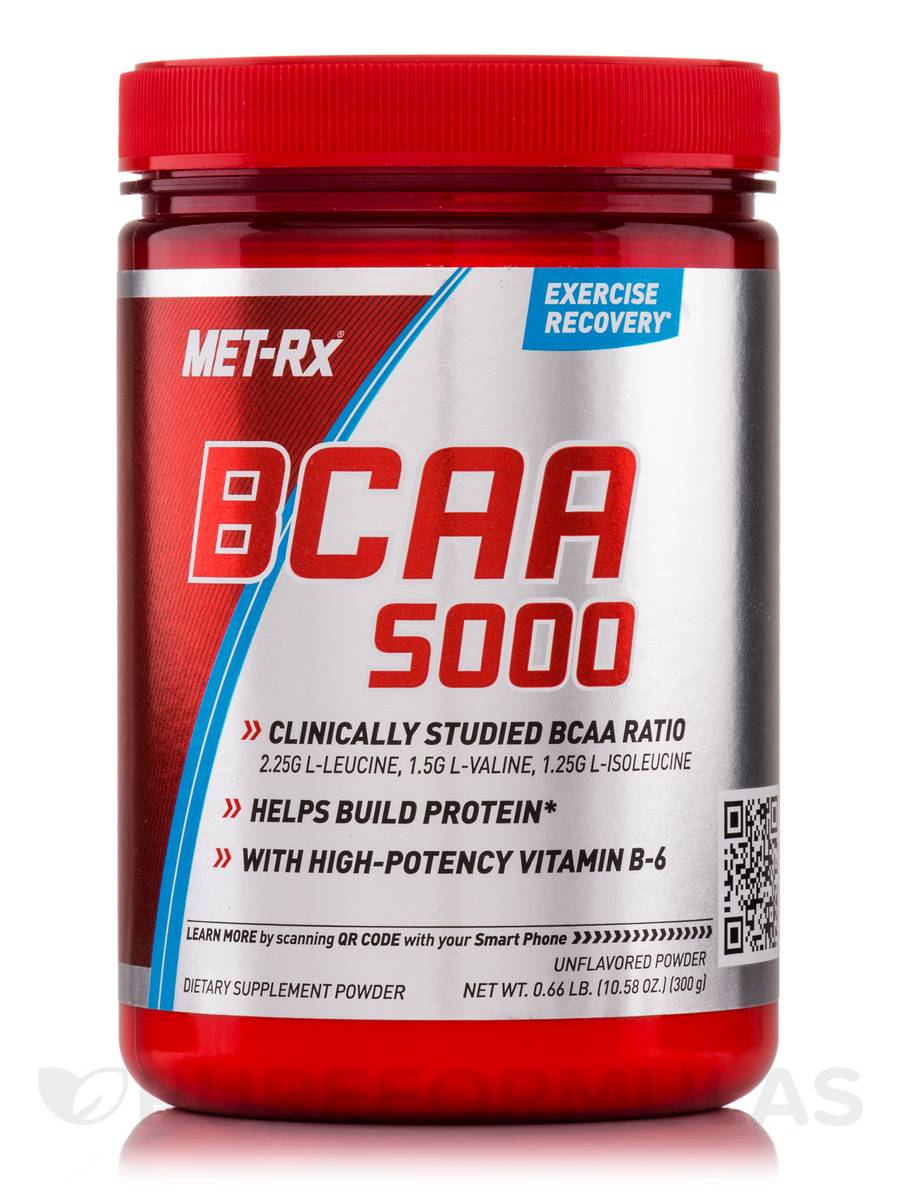 BCAA 5000 Powder Unflavored - 10.58 oz (300 Grams)