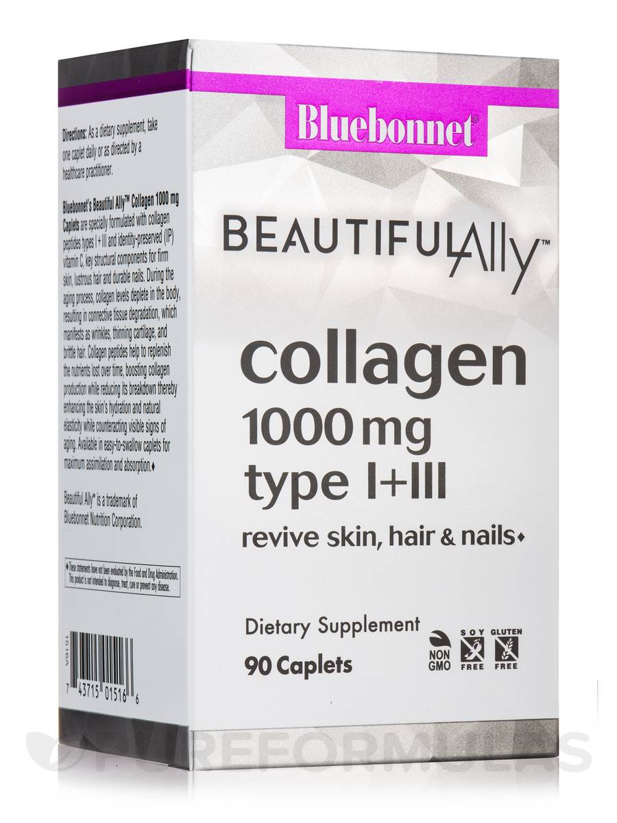 Beautiful Ally® Collagen 1,000 mg Type I & III - 90 Caplets