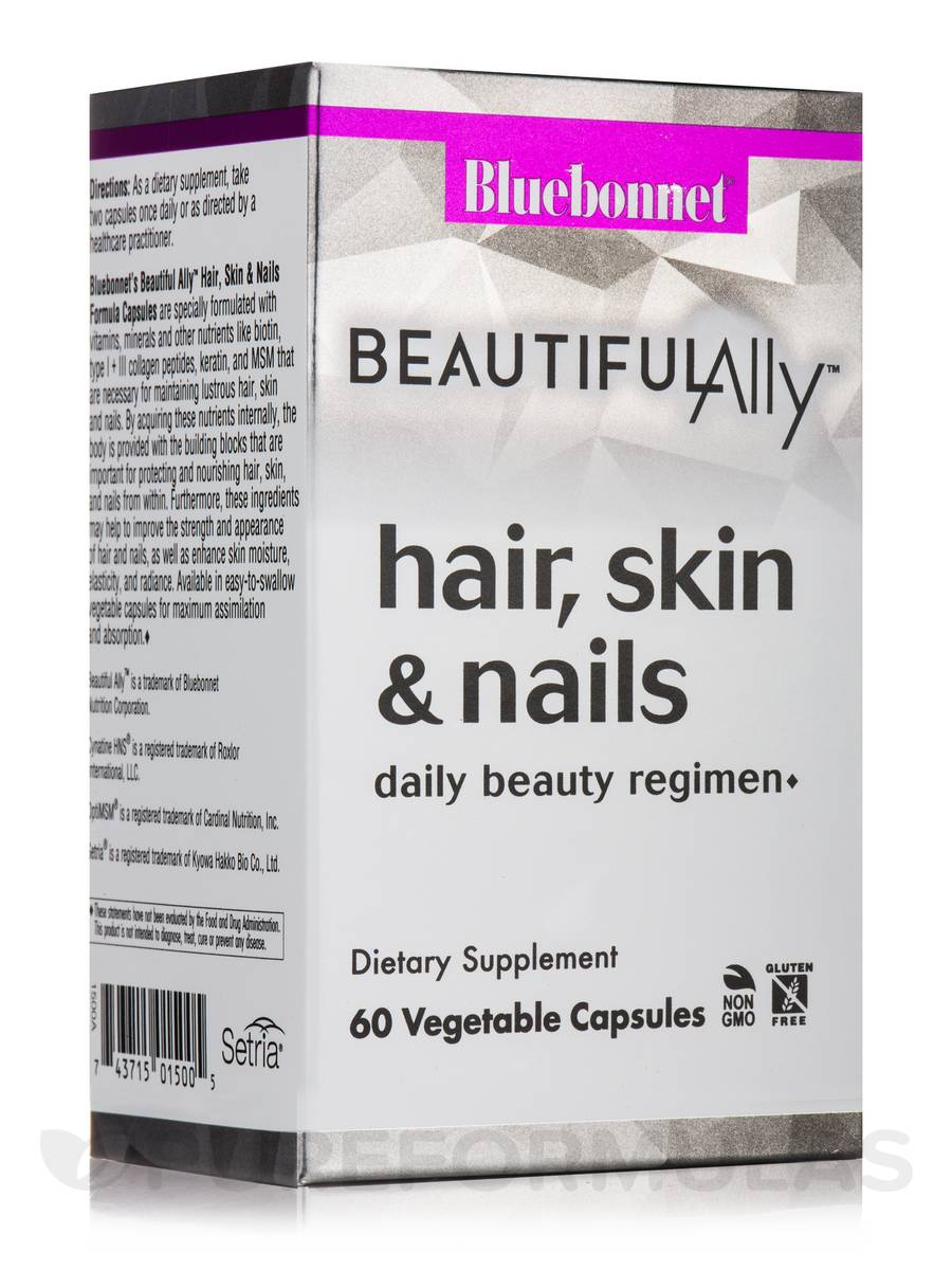 Beautiful Ally™ Hair, Skin & Nails - 60 Vegetable Capsules