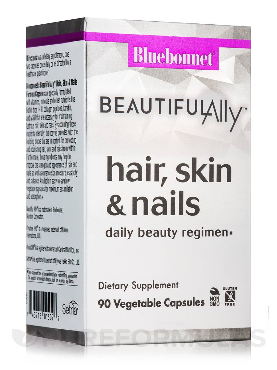 Beautiful Ally™ Hair, Skin & Nails - 90 Vegetable Capsules