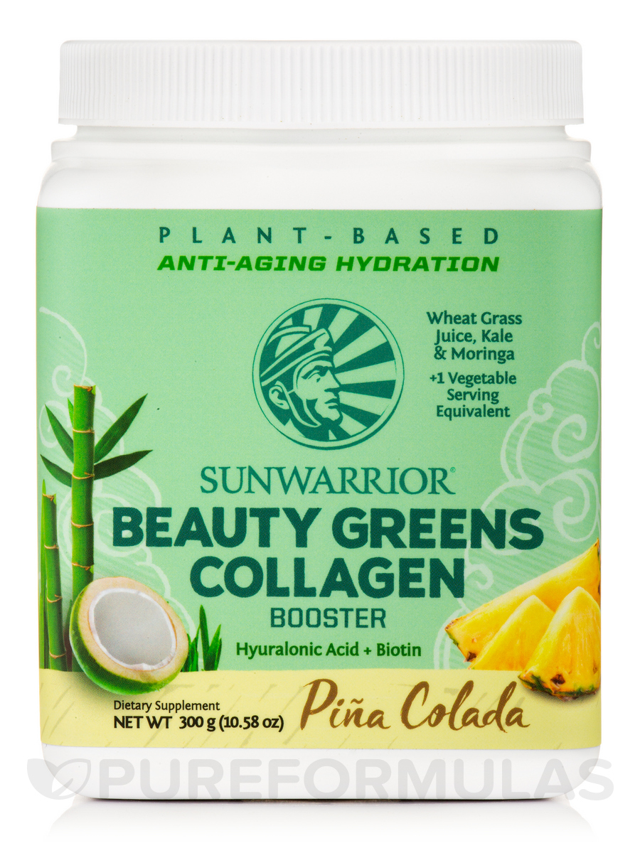 Beauty Greens Collagen, Piña Colada - 10.58 oz (300 Grams)