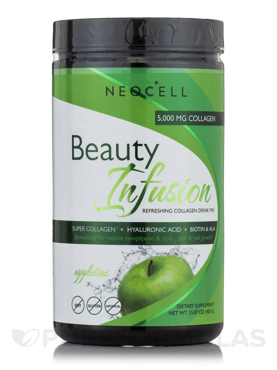 Beauty Infusion 5000 mg of Collagen - Appletini Flavor - 15.87 oz (450 Grams)