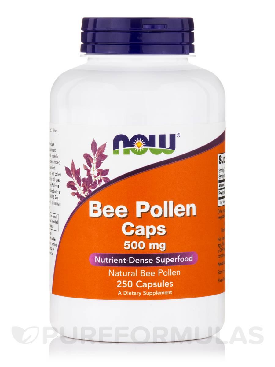 Bee Pollen Caps 500 mg - 250 Capsules
