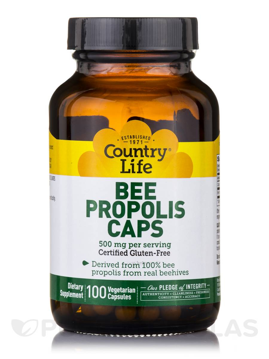 Bee Propolis Caps 500 mg - 100 Vegetarian Capsules