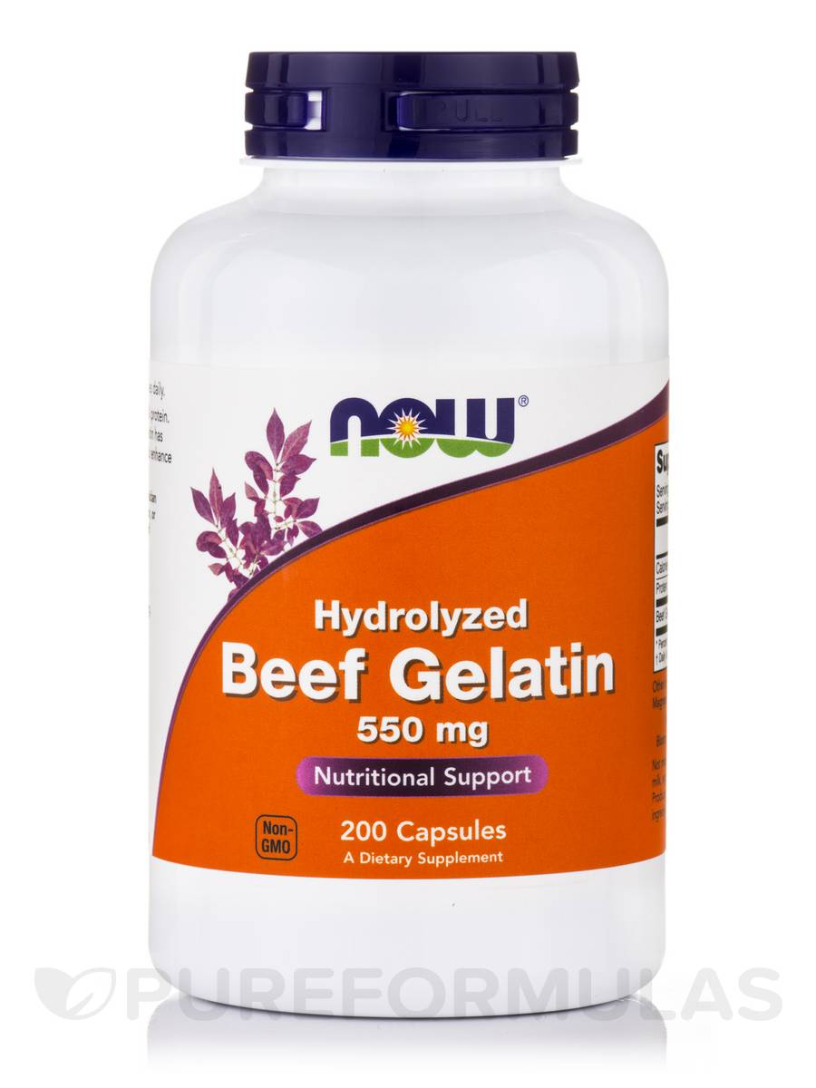 Beef Gelatin (Hydrolyzed) 550 mg - 200 Capsules
