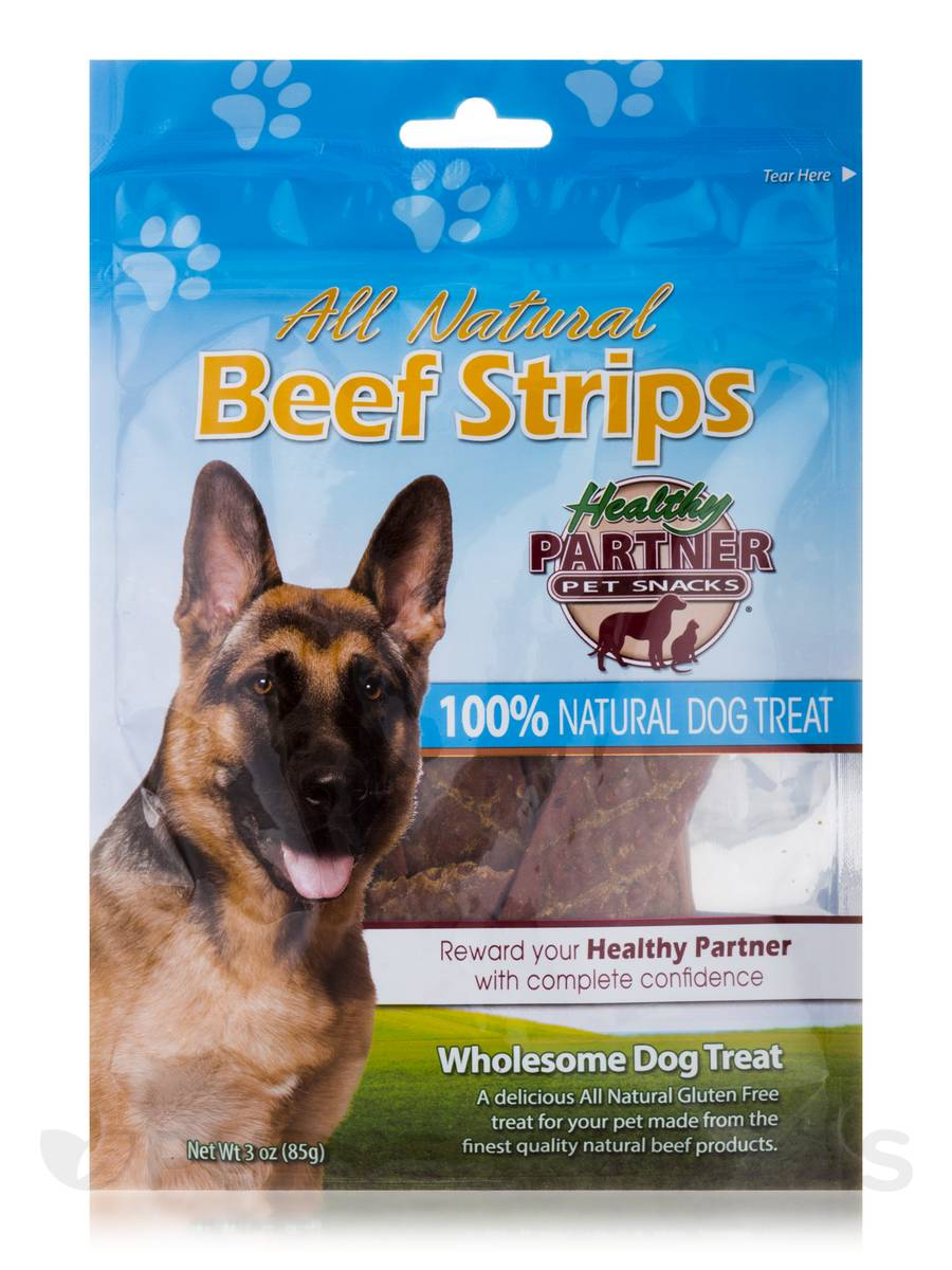 Beef Strips Bag - Treats for Dogs - 3 oz (85 Grams)