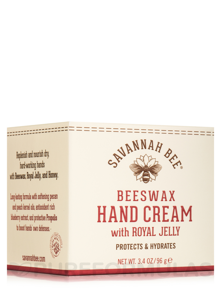 Beeswax & Royal Jelly Hand Cream - Honey Almond (Jar) - 3.4 oz (96 Grams)