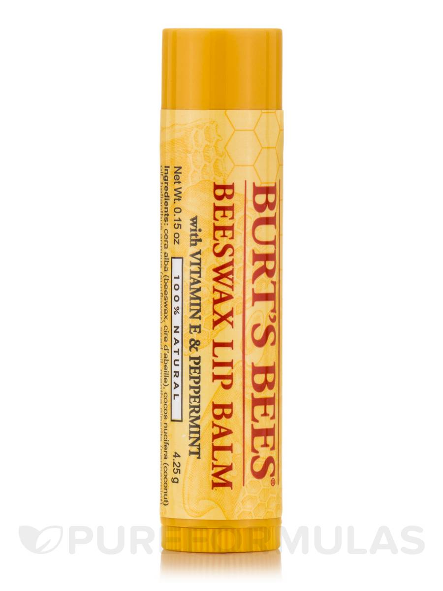 Beeswax Lip Balm with Vitamin E & Peppermint - 0.15 oz (4.25 Grams)