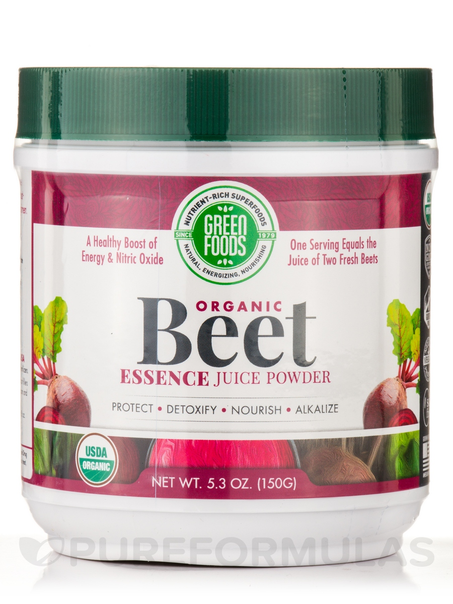 Organic Beet Essence Juice Powder - 5.3 oz (150 Grams)