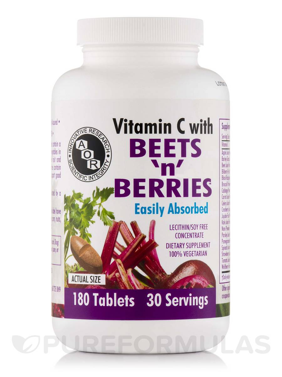 Beets N Berries with Vitamin C - 180 Tablets