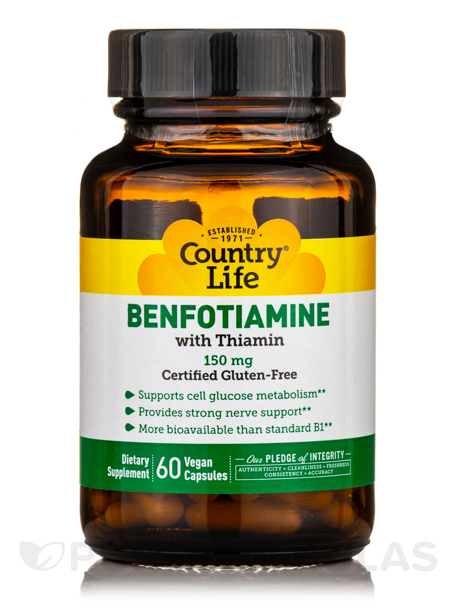 Benfotiamine with Coenzyme B1 - 60 Vegetarian Capsules