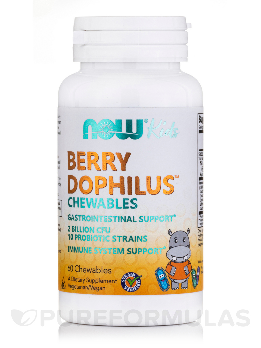BerryDophilus™ 2 Billion, Natural Berry Flavor - 60 Chewables