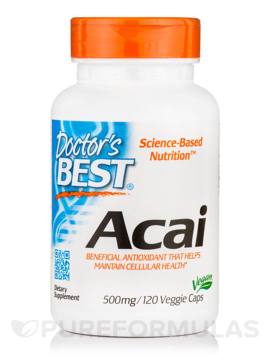 Best Acai 500 mg - 120 Veggie Capsules